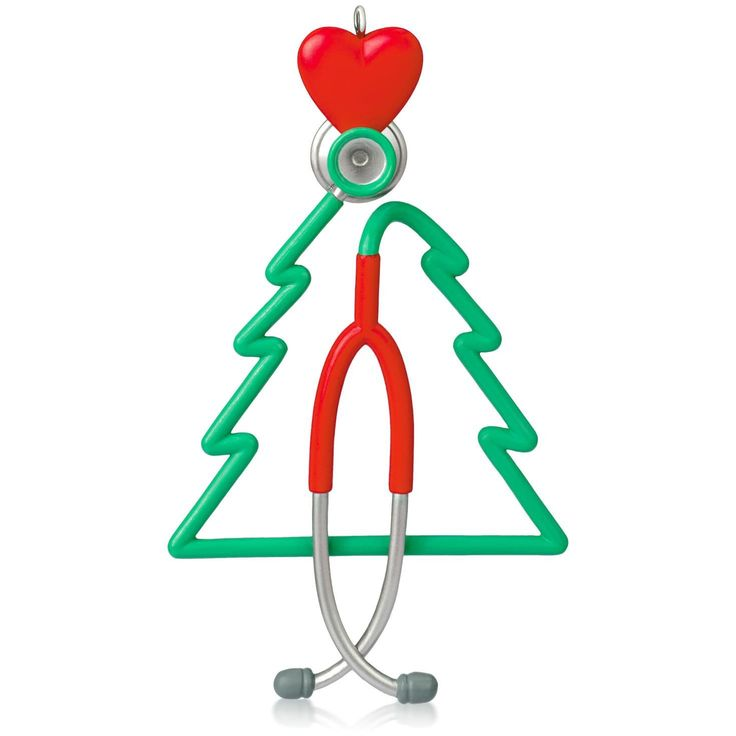 A Caring Heart Stethoscope Ornament