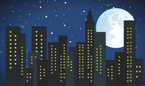 Backdrop Full Moon Sky 10 Ft X 6 Ft Vinyl Backdrop by PartySquare, $109.00