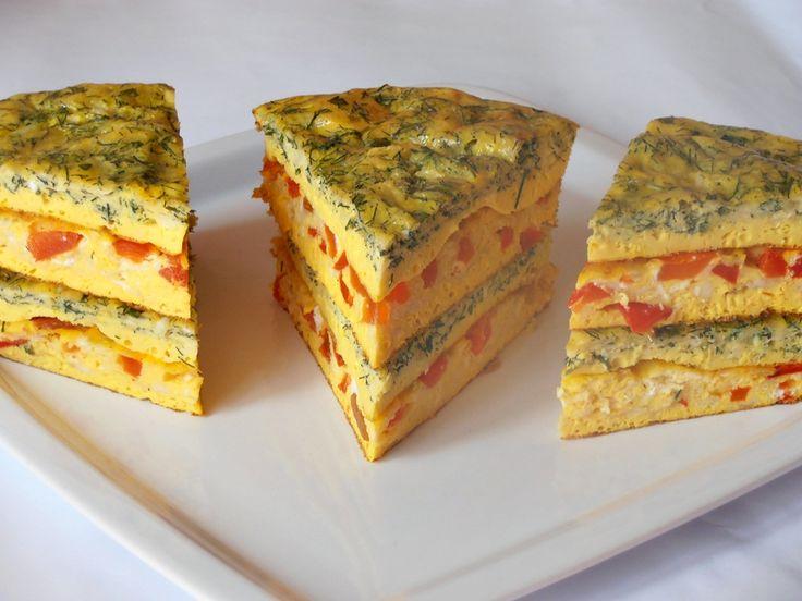 Tort aperitiv din omleta