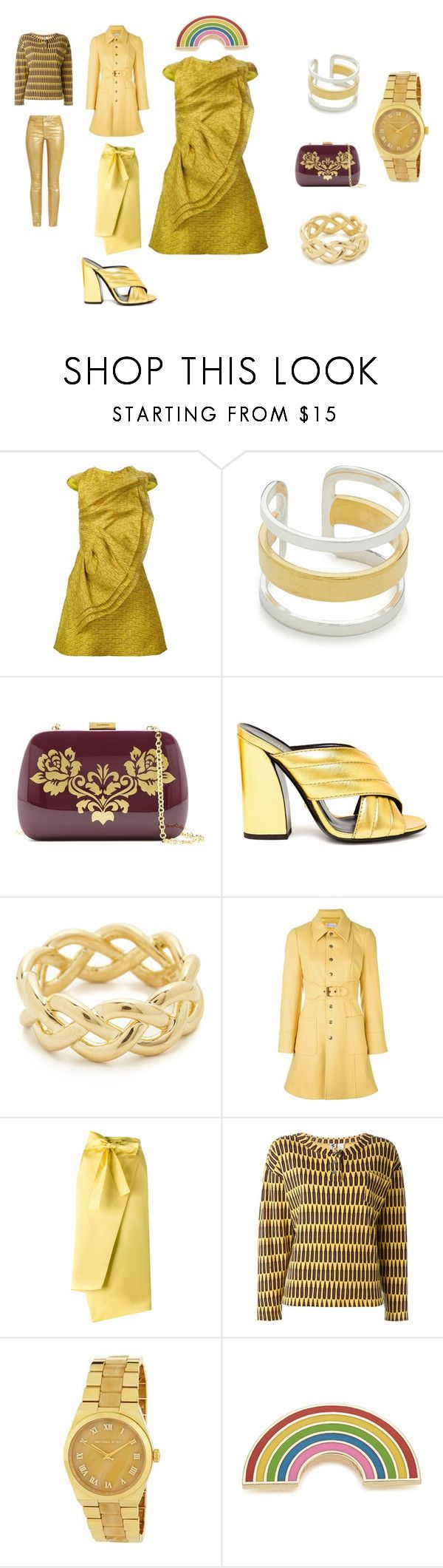 """looking awesome"" by emmamegan-5678 ❤ liked on Polyvore featuring Christian Siriano, Maya Magal, Serpui, Gucci, Soave Oro, RED Valentino, Rochas, Stephen Sprouse, MICHAEL Michael Kors and Georgia Perry"