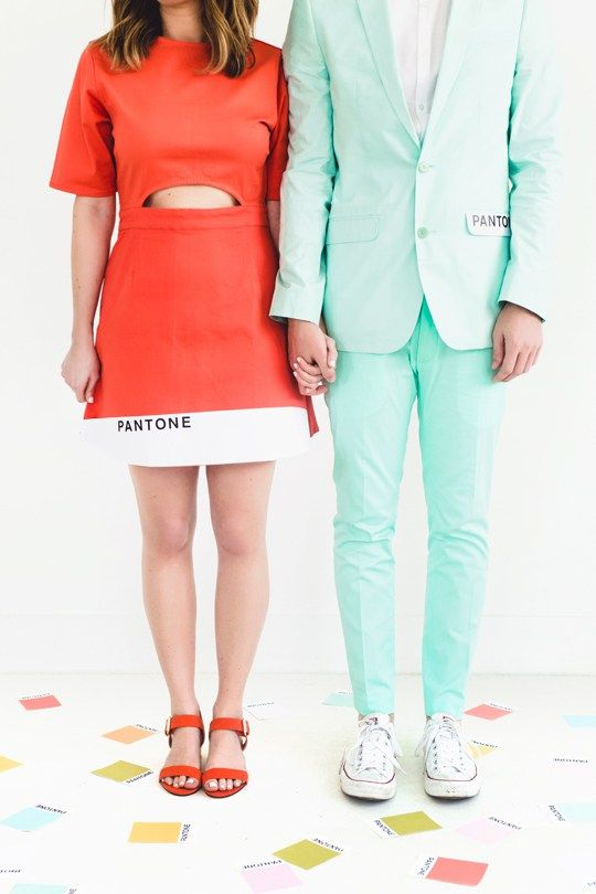 diy pantone color combo couples costume - Hipster Halloween Ideas