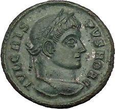 Crispus Constantine the Great son 321AD Ancient Roman Coin Sucess Wreath i53259