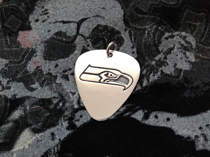 Sea hawks silver guitar pick, Personalized silver guitar pick, Custom silver guitar pick, Father's Day gift, Gift for men, Gift for Sea Hawk by art1jewel on Etsy