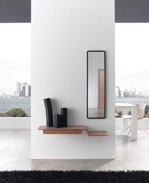 Moderno mueble recibidor en madera