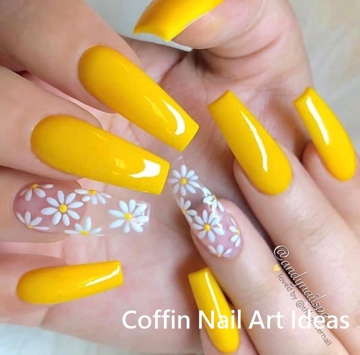 20 Trendy Coffin Nail Art Designs nailideas nailartideas