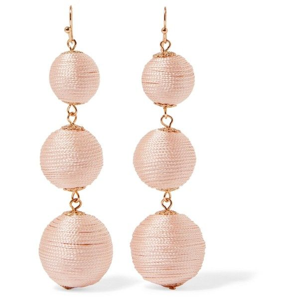 Kenneth Jay Lane Gold-tone woven earrings ($40) ❤ liked on Polyvore featuring jewelry, earrings, blush, kenneth jay lane, goldtone jewelry, woven earrings, earring jewelry and gold colored jewelry