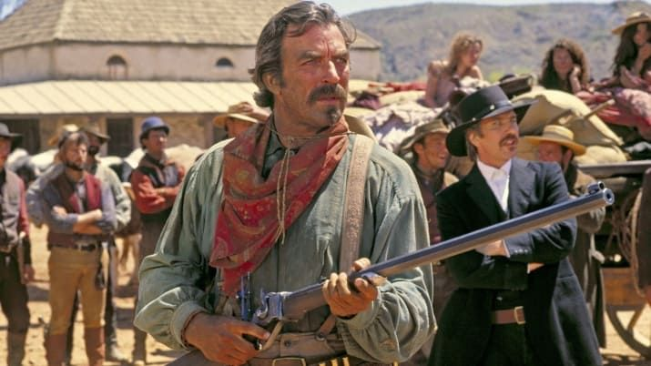 Tom Selleck at his Tom Selleck-iest, rockin' the 'stache in cowboy gear; Alan Rickman as the casually evil antagonist; and Laura San Giacomo being crazy. American cowboy Quigley takes a job as a sharpshooter in Australia, only to learn upon arrival that his employer wants him to use his skills not on predators like dingoes that threaten his sheep, but the Aboriginal people who cross his land. Quigley and his rifle take exception to that, and it culminates in a classic showdown with the bad…