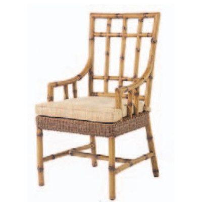 Woodard South Terrace Patio Dining Chair with Cushion Fabric: Spindrift Seaspray