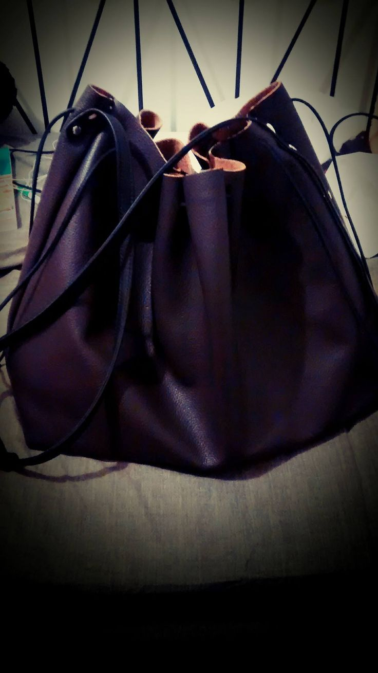 My first full leather bag design