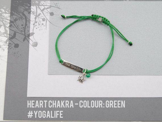 Sterling Silver Heart Chakra bracelet, yoga bracelet, gratitude bracelet, yoga jewelry, chakra jewelry, heart chakra bracelet, yoga gift