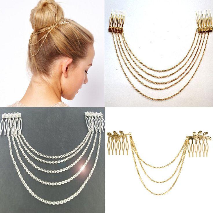 $0.71 (Buy here: https://alitems.com/g/1e8d114494ebda23ff8b16525dc3e8/?i=5&ulp=https%3A%2F%2Fwww.aliexpress.com%2Fitem%2F2016-Fashion-Women-Hair-Accessories-Metal-Tassel-Chain-Headband-Clip-Hair-Comb-Bridal-Leaf-Headwear%2F32778475947.html ) 2016 Fashion Women Hair Accessories Metal Tassel  Chain Headband  Clip Hair Comb Bridal Leaf Headwear for just $0.71
