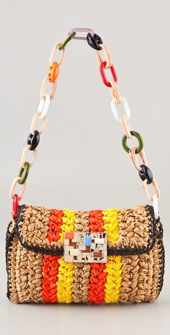 Saw one of these in the window of the M Missoni store the other day -- crocheted raffia shoulder bag