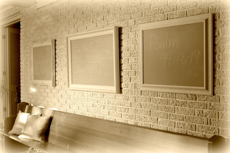 The Lavender Tub: Homemade Chalkboard Paint.  I love this idea of more than one chalkboard.