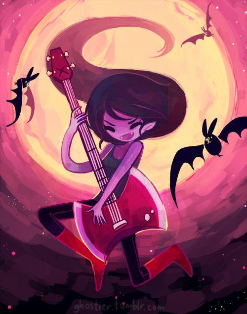 Ghostier Rockin Queen Characters Marceline Hora De