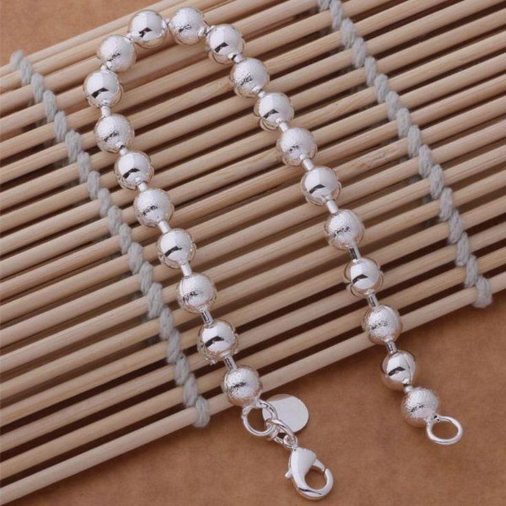 Блестящие шарики Оптовая серебрение браслет, посеребренные ювелирные изделия/QJIOTQWH WWDDKRVJкупить в магазине yinfen guo's storeнаAliExpress