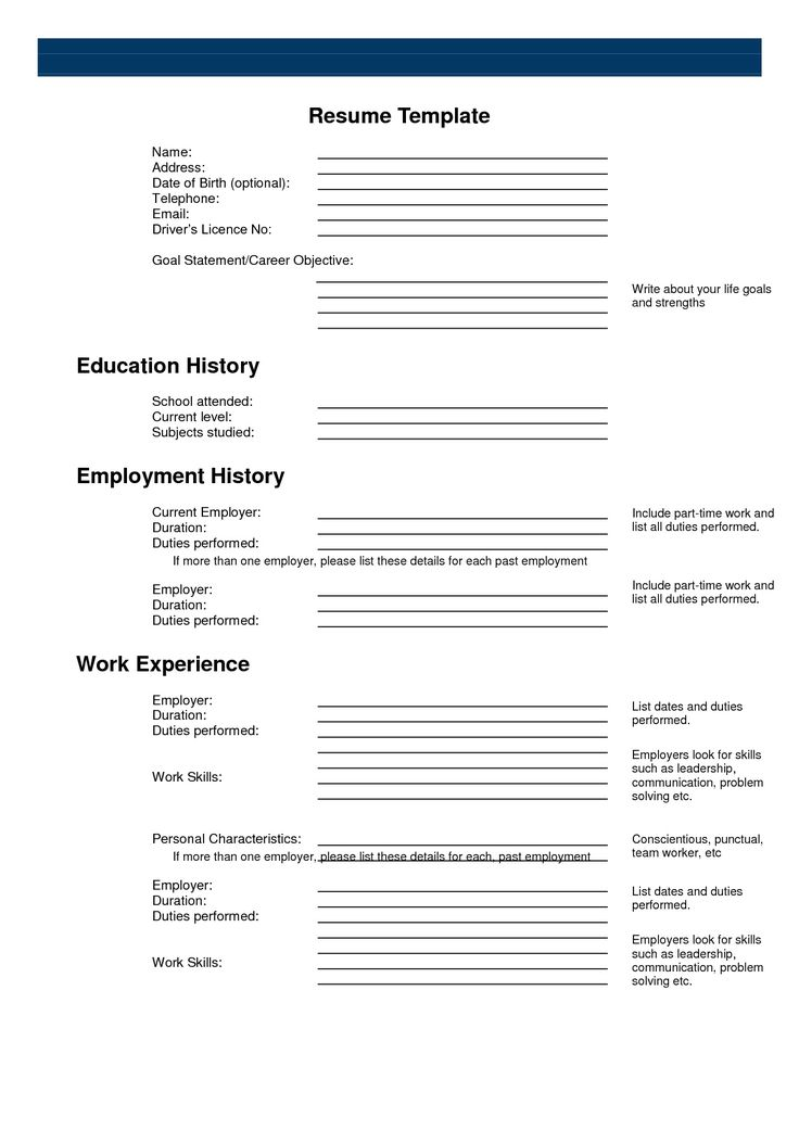 25+ melhores ideias de Free printable resume no Pinterest - employment history template