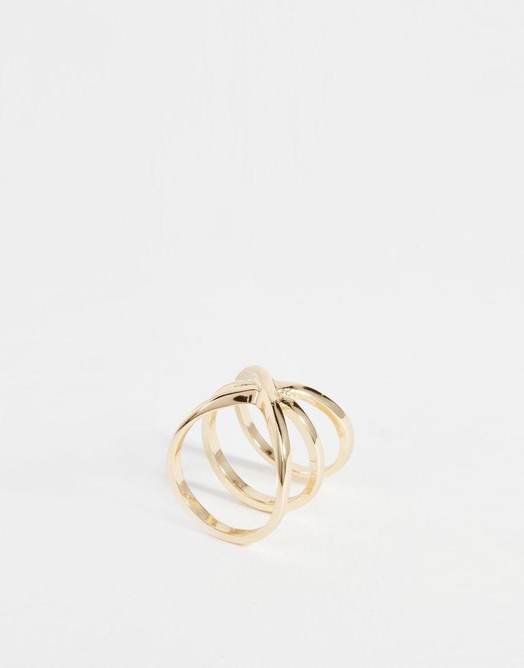 ASOS Criss Cross Band Ring