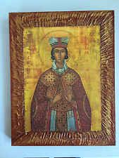 Saint Barbara- handmade Greek orthodox Russian byzantine icon on wood