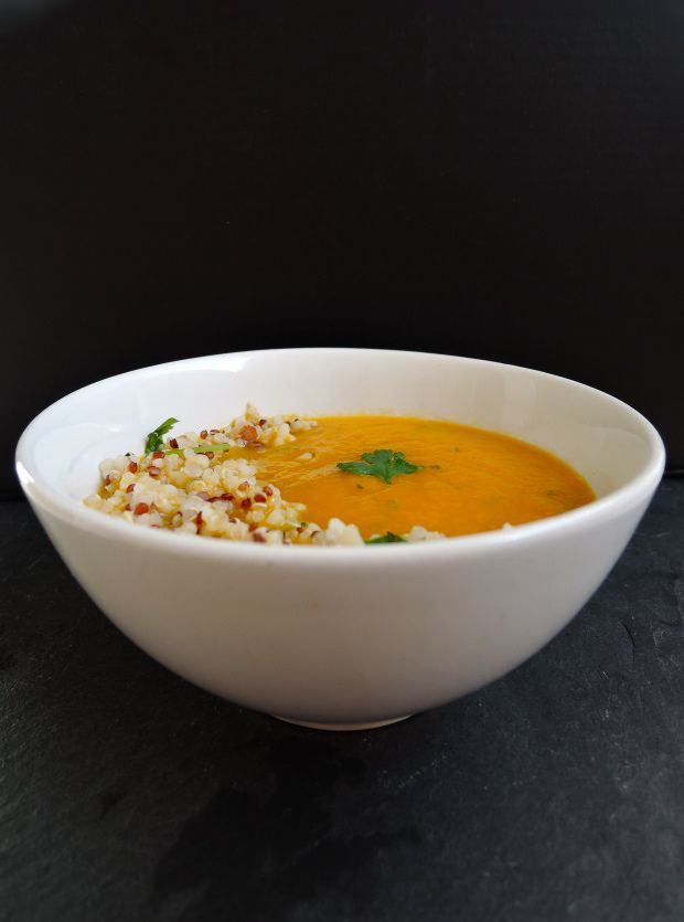 Carrot & Coriander Soup with Nutty Quinoa | Add A Little | really want ...