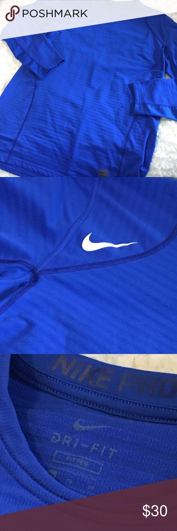 "Men's Nike Pro Dri Fit Sz XL / Fitted / 83% Polyester 17% Elastane / 21"" Armpit to Armpit 30"" Long.    14 Nike Shirts Tees - Long Sleeve"