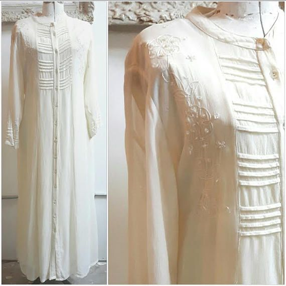 Vintage April Cornell Victorian  Full Length Dress Bridal
