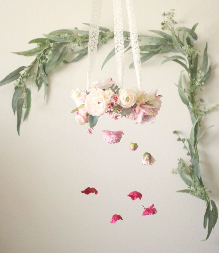 Ombre Flower Chandelier for events, backdrops or flower mobile for baby nursery by Love Sparkle Pretty http://lovesparklepretty.com/shop/ombre-flower-chandelier