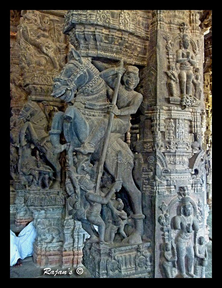 https://flic.kr/p/dMNapj | Horse warrior- Varadharaja Perumal Temple- Kancheepuram