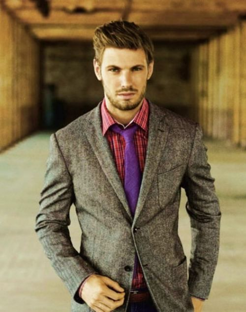 Plain mens wool blazer to wear with coloured jeans or ...