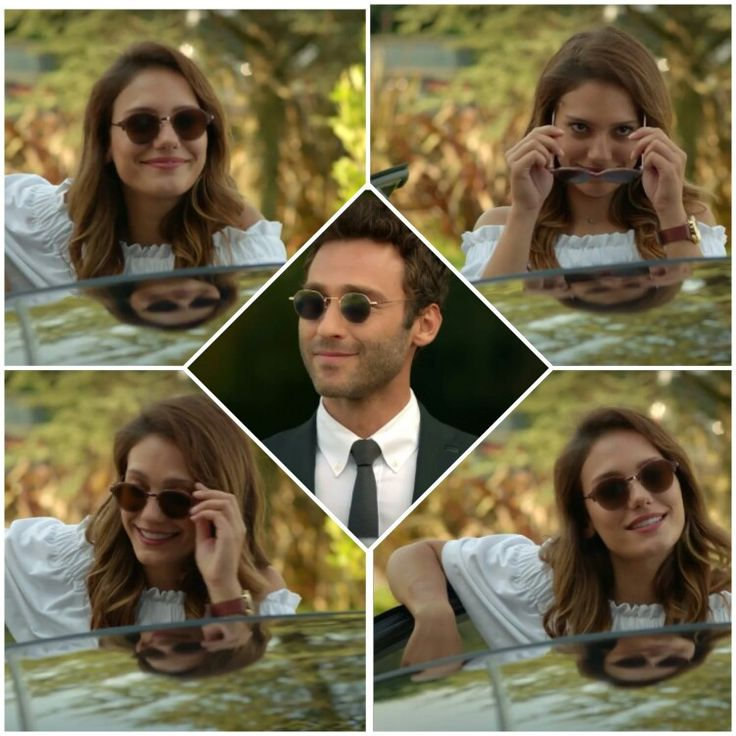 Diva diva diva!  Brilliant idea of #Asli the sunglasses and the surprised eyes of Bariş ..priceless.  Ζούσα για αυτή τη στιγμή! ! xD