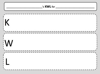 FREE Printable Student KWL Chart From TPT