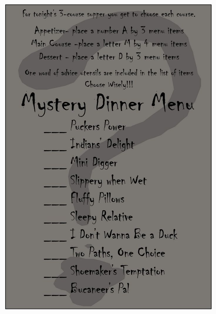 Recipes and Crafts, Oh My!!!: Mystery Dinner Date Night