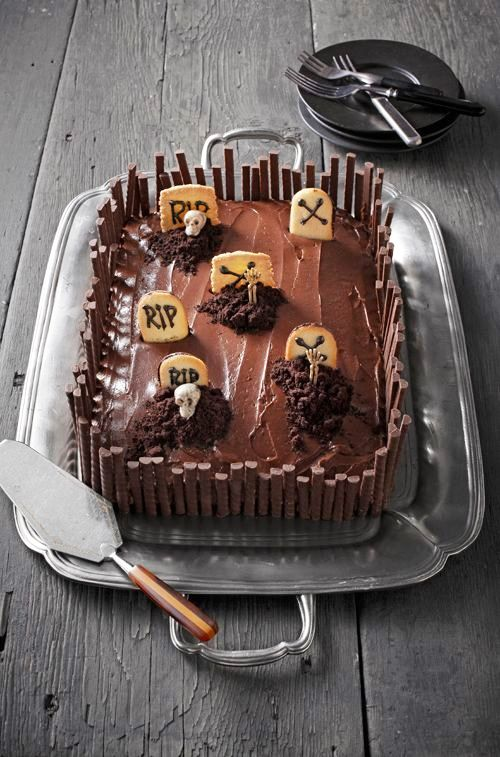 Graveyard Chocolate Cake – Best Cheap Easy Halloween Party Dessert Kid Food - Easy Idea (2)