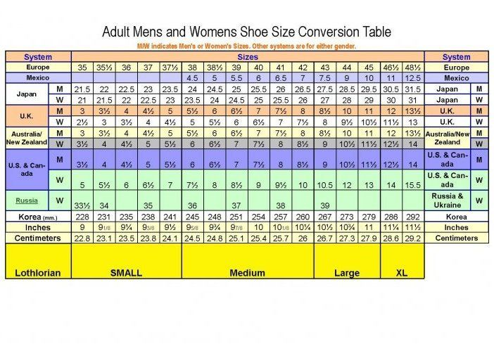Cole Haan Shoe Sizing