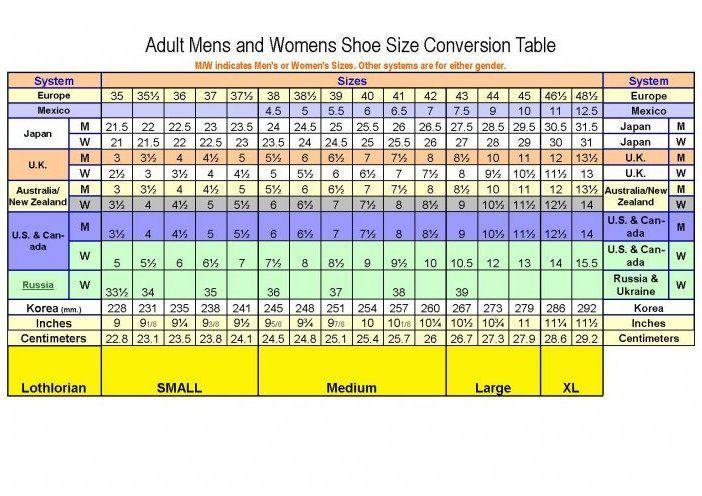 shoe size conversion chart shoes shoe size