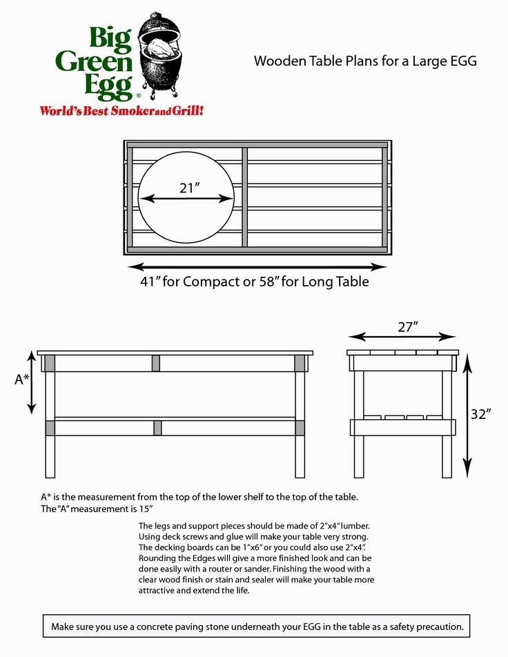 Big Green Egg Table Plans - http://behomedesign.xyz/big-green-egg-table-plans/