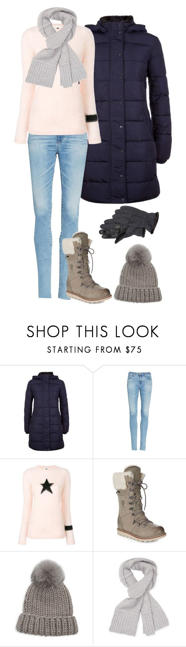 """""""Snowball Fight"""" by xxmonnyxx ❤ liked on Polyvore featuring Hobbs, AG Adriano Goldschmied, Bella Freud, Eugenia Kim, UGG and Isotoner"""