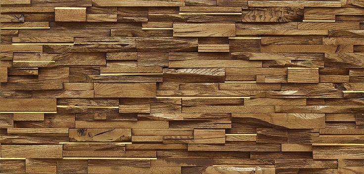 Disruption : Revêtement mural Chêne Fumé 3D et Met plat Laiton massif #parquet #art #interiordesign #interiorarchitecture #wood #woodfloor #paris #carresol #laiton #panneaumural