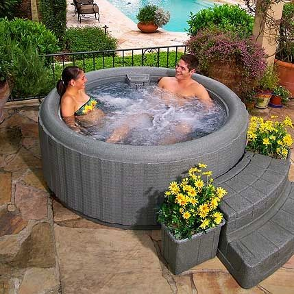 best 25 backyard hot tubs ideas only on pinterest diy. Black Bedroom Furniture Sets. Home Design Ideas