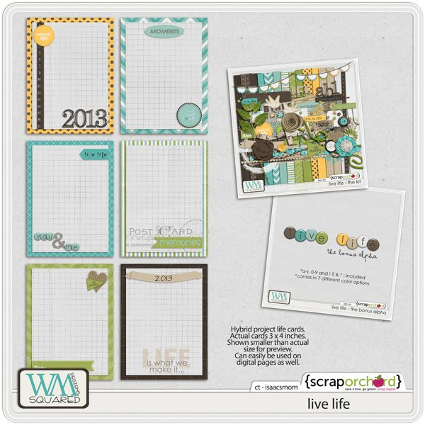 Free Project Life Journaling Card Set