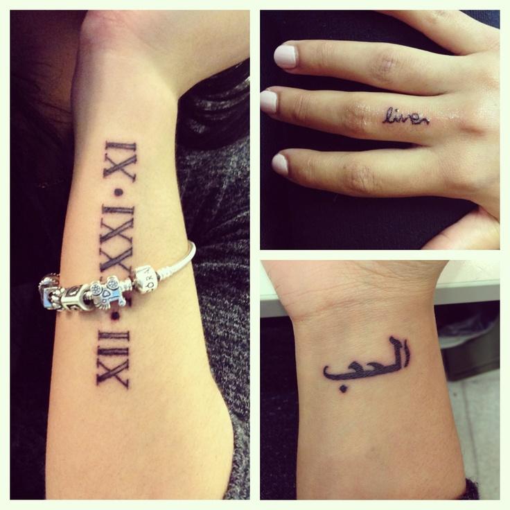 Henna Wrist Word Tattoo: Cute Wrist & Finger Tattoos :) It Says Love In Arabic