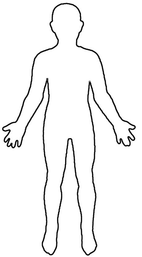 Funtresting Galleries! » Outline Of Child S Body Template