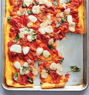Polenta Caprese Pizza recipe