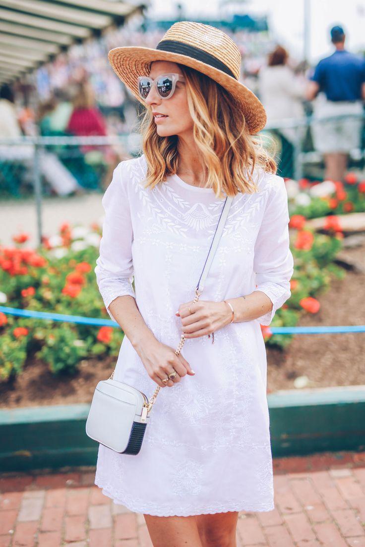 White Shift Dress for Summer