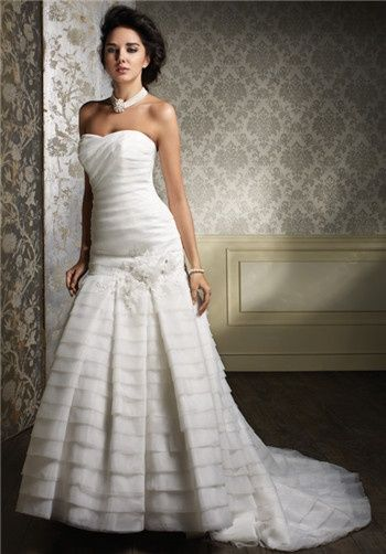 Bridal Gown Inspiration a board by www.myfauxdiamond.com #myfauxdiamond #weddings #jewelry  Alfred Angelo Sapphire 888