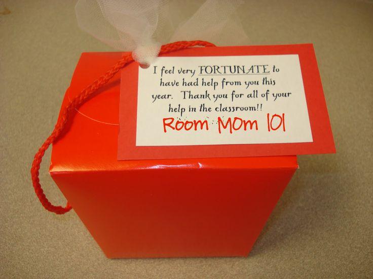 Room Mom 101: Parent Volunteer Gifts | Gift Ideas | Pinterest