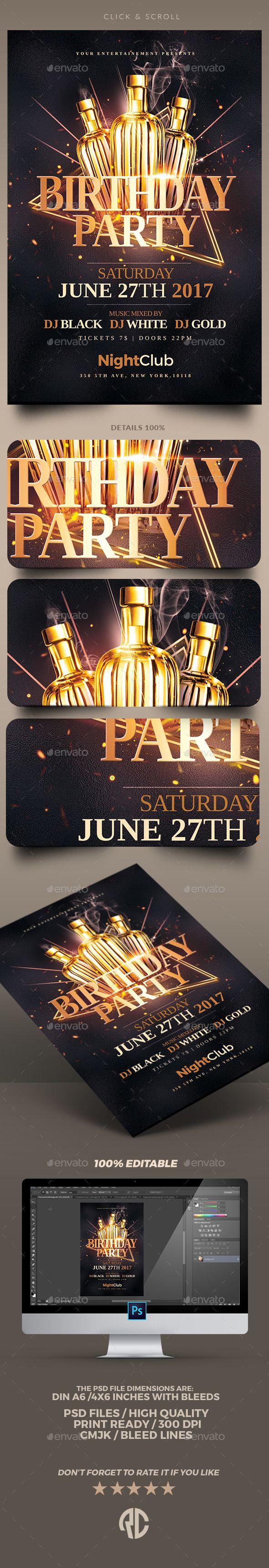 Classy Birthday Party | Flyer Templates PSD