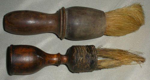 1700-1800's shaving brushes