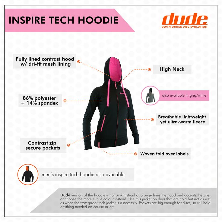 Stay warm, fashionable, and practical.Ladies Hoodie in hot pink or subtle white. Shop now!#dudeclothing #discgolf #GrowtheSport #GrowtheCommunity https://www.dudeclothing.com/collections/ladies/products/ladies-inspire-tech-hoodie?variant=17906379845