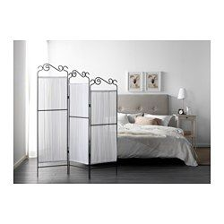 EKNE ルームディバイダー, グレー, ホワイト - 135x161 cm - IKEA