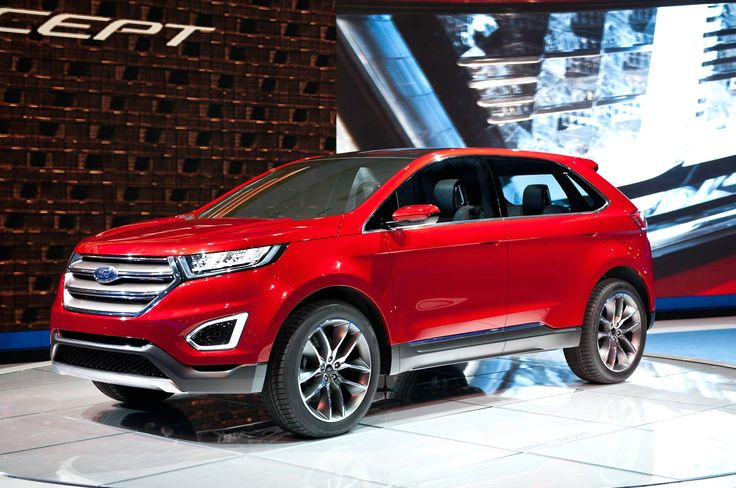 2016 Ford Edge front view red colors design pictures